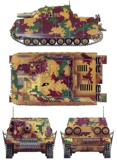 """ Brumbar "" ... Panzer Iv, German Soldiers Ww2, German Army, Self Propelled Artillery, Camouflage, Military Drawings, Ww2 Pictures, Military Armor, Model Tanks"