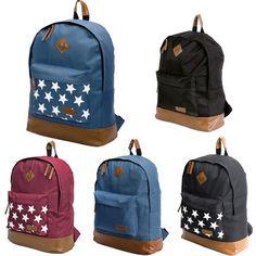Herren Damen Mädchen Rucksack Backpack Sport Gym Freizeit Schule Taschen Stern