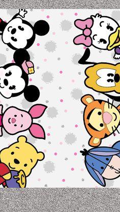Pin by thanathip yooyen on พื้นหลังโทรศัพท์ in 2019 Tsum Tsum Wallpaper, Mickey Mouse Wallpaper, Disney Phone Wallpaper, Iphone Wallpaper, Baby Disney, Disney Love, Disney Mickey, Disney Art, Disney Pixar