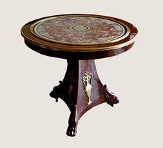 c1810 A fine French Empire period mahogany, ormolu and scagliola gueridon, circa 1810
