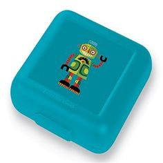 Crocodile Creek Robot Sandwich Keeper  is a eco-friendly, reusable, one-piece sandwich and food container, that is perfect for school lunches.