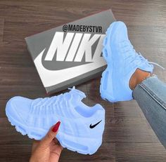 25 Women Shoes For Teens Nike Shoes blue nike sneakers Nike Shoes Blue, Nike Air Shoes, Purple Sneakers, Nike Shoes Outfits, Baby Blue Shoes, Pink Shoes Outfit, Nike Air Max, Adidas Outfit, White Sneakers