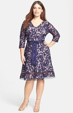 Adrianna Papell Lace Fit & Flare Dress (Plus Size) available at #Nordstrom