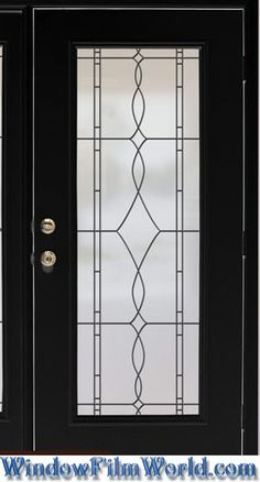 Allure Leaded Glass Look Privacy Window Film with Black Leading Lines - also available with White Lines from WindowFilmWorld.com