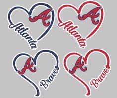 I Heart Braves, window decal, Atlanta, baseball Atlanta Baseball, Braves Baseball, Window Decals, Heart, Handmade Gifts, Unique, Vintage, Etsy, Kid Craft Gifts