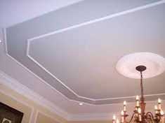 Image result for ceiling molding Dining Room Ceiling, Molding Ceiling, Pop False Ceiling Design, Ceiling Decor, Ceiling Trim, Pop Ceiling Design, Ceiling Crown Molding, Modern Ceiling, Wainscoting Styles