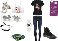 """""""Jasmine's In the Unicorn Mood"""" by cynthiastyles21 ❤ liked on Polyvore"""