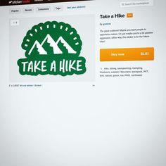 Grab the take a #hike #sticker on @stickermule! http://s.graticle.com/1iGm3