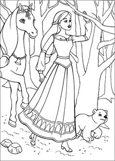 Barbie Coloring Page And The Magic Pegasus