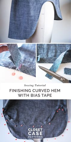 How to finish a curved hem with bias tape // Kalle Shirtdress