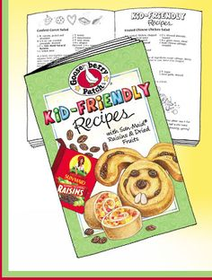 Get a FREE Gooseberry Patch Kid Friendly Recipes Cookbook! This handy cookbook features 30 family friendly recipes, along with plenty of tips and Fixate Cookbook, Cookbook Recipes, New Recipes, Favorite Recipes, Free Stuff Canada, Gooseberry Patch Cookbooks, Raisin Recipes, Patch Kids, Cooking With Kids