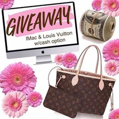 """""""IT'SGIVEAWAY TIME!!"""" I have partnered up with a group ofFantastic Shops & Bloggers to giveone precious the prize of their choice: A 21.5 inch iMac  Computer or a Louis Vuitton Neverfull Handbag w/a $1000 PayPal cash  option the choice is yours! .  Next Stop---> @essentialoilnp.  1Follow @kmiabellavita 2Likethis photo 3Follow@essentialoilnp Repeatsteps 1-3 in every photo until you've arrived back here. . This completes your entry! .  YOU MUST FOLLOWall of the cohosts to qualifyWE WILL CHECK…"""