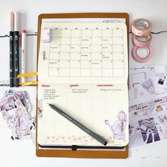 Still playing around with new monthly layouts! Still undecided! I have something top secret under that little journal sticker. I might…