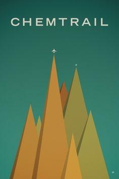 Chemtrail Chemtrail Paul Tebbott #tebbott #illustration #chemtrail #poster #minimalist #paul