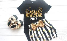 4119e555388d My First New Years Outfit, Baby Girl New Years Eve Outfit, New Years Outfit,  Happy New Year Outfit, 2019, Baby Girl Clothes