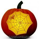 Spider's Web Pattern – Free Pumpkin Carving Pattern