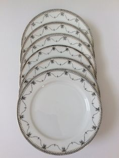 Vintage Okwan China Hand Painted Salad Plates, Set of 6, Made in Japan