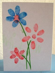 Finger Print Flowers...one flower from each kiddo, done on muslin or canvas and framed, would be so sweet.