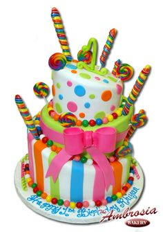 Lollipop Cake. Too cute!  Great for a girl's party!