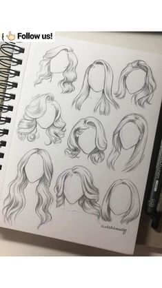 Karakalem Saç Çizim Teknikleri - Hair Style Pencil Drawing Hair Drawing Techniques - the Pencil Art Drawings, Art Drawings Sketches, Drawings Of Hair, Girl Hair Drawing, Drawings Of Dresses, Hair Styles Drawing, Cute Drawings Of Girls, Sketches Of Girls, Realistic Hair Drawing