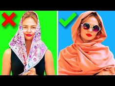 Timestamps: - easy and stylish ways to tie your scarf - how to wear a neck scarf - warm ways to wear a scarf ---------------------------------. Ways To Wear A Scarf, How To Wear Scarves, Instant Hijab, Modest Fashion Hijab, Bandana Hairstyles, How To Make Clothes, Chiffon Scarf, Clothing Hacks, Neck Scarves
