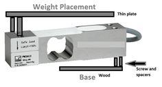 Circuito de escala de pesagem usando célula de carga e Arduino -  -