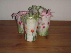 'Windlicht gefilzt mit Blumenwiese von Feen-Zauber auf DaWanda.com
