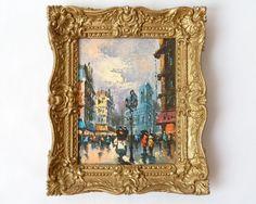 Vintage Burwood Mini Art Print in Gold by ModLoungeVintage on Etsy, $22.00