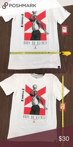 3a8c46407b1a05 Air Jordan Retro 11 Boys Shirt White Infrared ITEM  Air Jordan Youth T Shirt  CONDITION