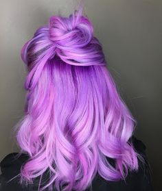 Bright and beautiful. hair color dyed hair, hair styles a ha Cute Hair Colors, Pretty Hair Color, Beautiful Hair Color, Hair Dye Colors, Bright Hair Colors, Crazy Hair Colour, Vivid Hair Color, Pink Purple Hair, Lilac Hair