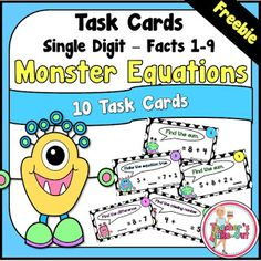 Freebie! Simple Addition and Subtraction Task Cards