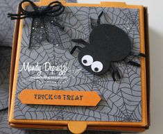 The spider is the 2019 snowman punch upside down! Owl Punch, Punch Art, Halloween Cards, Happy Halloween, 3d Paper Crafts, Paper Trail, Making Greeting Cards, Fall Cards, Paper Pumpkin
