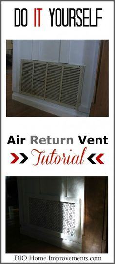 DIY Air Return Tutorial - something of this nature Return Air Grill, Air Return Vent Cover, Cold Air Return, Air Vent Covers, Trash To Couture, Diy Grill, Home Upgrades, Home Repair, Home Improvement Projects