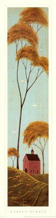 Warren Kimble - Autumn, American Folk Art Artist