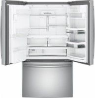 GE - Profile Series 27.8 Cu. Ft. French Door Refrigerator with Keurig Brewing System - Stainless steel - AlternateView2 Zoom