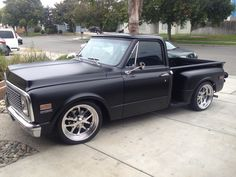 1971 w/ 20 inch Budnik wheels. Chevy Trucks Lowered, 67 72 Chevy Truck, Chevy Ss, C10 Trucks, Chevy Pickup Trucks, Classic Chevy Trucks, Chevrolet Trucks, Chevy Stepside, Chevy Pickups