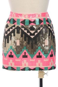 Tribal Glam Skirt also available in orange! Both are super cute! Check out more clothes at www.escloset.com and use coupon code SEAlexandr for a 5% discount at checkout!