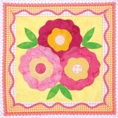 This is Spring in Bloom by Cheryl Almgren Taylor for 100 Blocks, Volume 12. Find this and 99 more amazing designs in this new issue, and visit Quilty Pleasures all this week for our big blog tour celebration!