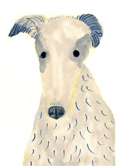 Dog Borzio by Itsuko Suzuki.