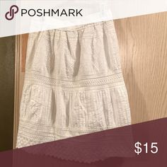 Beautiful white eyelets skirt 100 percent cotton. Excellent condition skirt only worn twice. Skirts Midi
