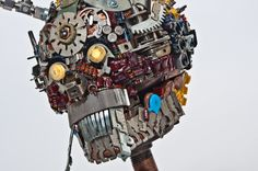'Devil Skull' Gabriel Dishaw Upcycler / Junk Artist / Sculptor​    Creates his works using found objects from typewriters, adding machines​, old computers and technology. I take the items people no longer have use for and that would normally end up in a landfill and in turn create something new and upcycled.