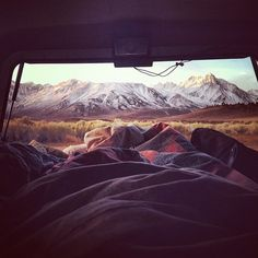 Lounging by the mountains.