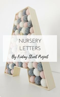 Wood Letter - Custom Nursery Name Sign for Nursery Decor. Filled Letters for wall hanging - Kids Room, Baby, Bedroom, Baby Gift Nursery Letters, Nursery Name, Girl Nursery, Girl Room, Baby Nursery Diy, Diy Baby, Nursery Room, Diy Nursery Decor, Baby Room Decor