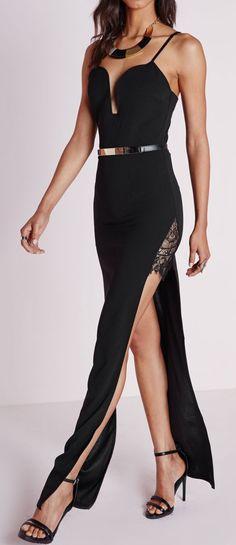 Split maxi gown