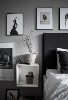 Black and white art on the bedroom wall | Cim Ek