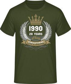 Pánske tričko B&C# s potlačou Awesome, ktorú si môžeš upraviť. Tričko na narodeniny. Urban Khaki farba Textiles, Mens Tops, T Shirt, Fashion, Supreme T Shirt, Moda, Tee Shirt, Fashion Styles, Fabrics
