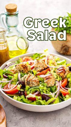 Veg Recipes, Greek Recipes, Salad Recipes, Vegetarian Recipes, Chicken Recipes, Dinner Recipes, Cooking Recipes, Healthy Recipes, Healthy Foods To Eat