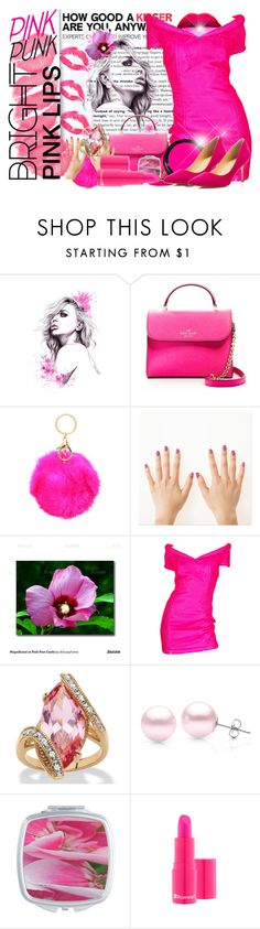 """Bright Pink Lipstick"" by deluxephotos ❤ liked on Polyvore featuring beauty, Kate Spade, Rimmel, Palm Beach Jewelry, Suzy Levian, Ivanka Trump and pinklips"