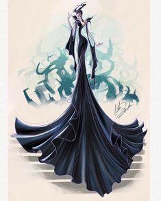 My fashion style Disney illustration Maleficent Dark Disney, Disney Magic, Aurora Disney, Disney Fan Art, Disney Love, Disney Illustration, Illustrations, Disney Queens, Disney Princess Fashion