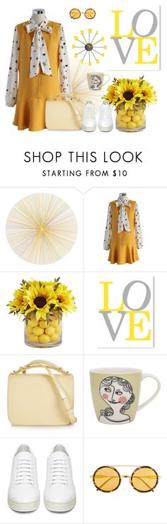 """""""Yellow mood"""" by chicwish ❤ liked on Polyvore featuring Tisch New York, Chicwish, Pier 1 Imports, Marni, Sandra Isaksson, Off-White and Wildfox"""